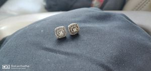 Sterling silver and diamond earrings for Sale in Colorado Springs, CO