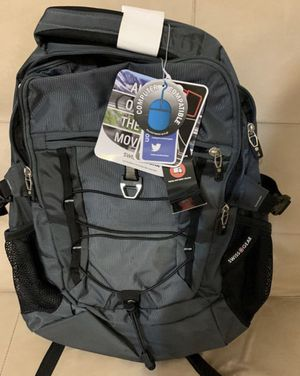 Brand New Swiss Gear grey backpack with laptop and iPad sleeves. Perfect for a college student for Sale in Port St. Lucie, FL