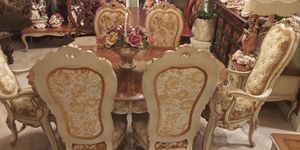 Beautiful antique dinner table with 6 chairs for Sale in Rialto, CA
