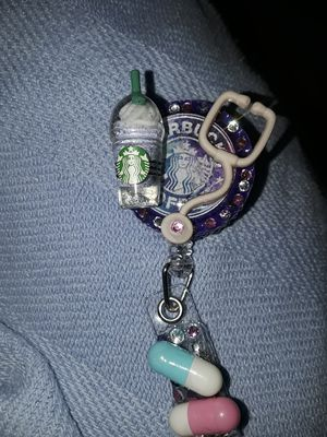 starbucks id badge holder with stethoscope for Sale in Fresno, CA