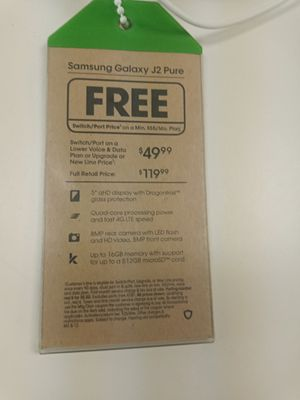 Samsung Galaxy J2 pure @ Cricket Wireless in Pace for Sale in Pace, FL