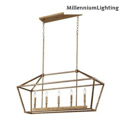 Millennium Lighting 3245-VG 5-Light 40 in. Wide Taper Candle Vintage Gold Chandelier for Sale in Dallas,  TX