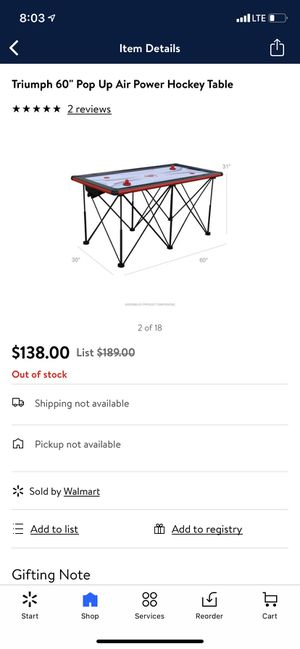 "New 60"" Triumph pop up air power hockey table for Sale in Kyle, TX"