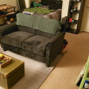 Black Loveseat Couch Sofa for Sale in Los Angeles, CA