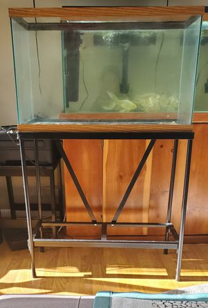 Fish tank 29 Gallon w/ Metal stand -used for Sale in Herndon, VA