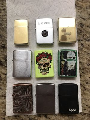 9 Zippo original lighters each was over $25 for Sale in Moreno Valley, CA