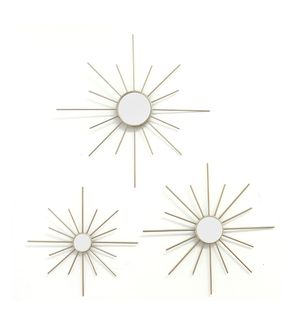 Stratton Home Decor Set of 3 Gold Mirror Burst Wall Decor for Sale in Garland, TX