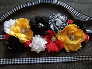 Disney Cars theme baby shower flower maternity sash for baby shower for Sale in Perris, CA