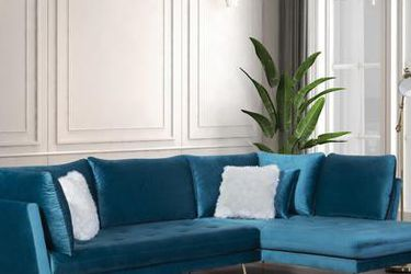 Nessa Teal Velvet RAF Sectional🚚FAST DELIVERY🚚💰 FINANCING AVAILABLE💰 for Sale in Austin,  TX