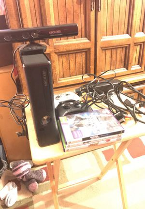 Xbox 360 with Kinect 4GB with 250GB Hard drive with 3 games and 2 controllers for Sale for sale  Franklin Township, NJ