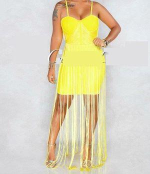 Rianna Yellow Fringe Dress (M) for Sale in Pompano Beach, FL