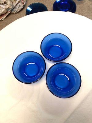 """5 1/2"""" Cobalt blue soup bowls for Sale in Traverse City, MI"""