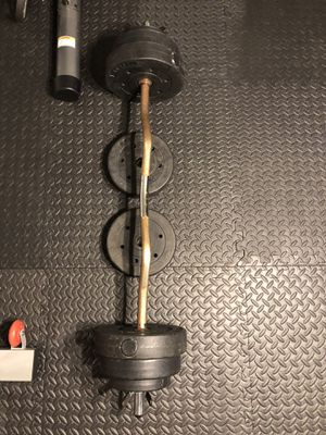 Curl Bar with Weights for Sale in Charlotte, NC