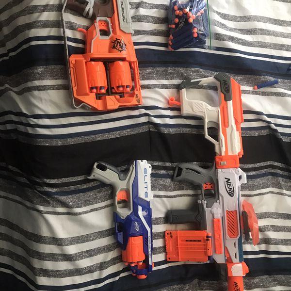 4 Nerf Blasters