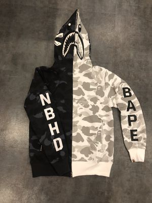 Black who're nbhd bape hoodie S M L XL XXL for Sale in Glendale, CA