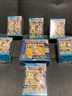 LOT OF NBA HOOPS PREMIUM: 6 BLASTERS AND 1 MEGA BOX (FACTORY SEALED) for Sale in Calumet City,  IL
