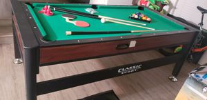 Pool table air hockey ping pong 3 in 1 $200 84 long 42wide for Sale in Canoga Park, CA