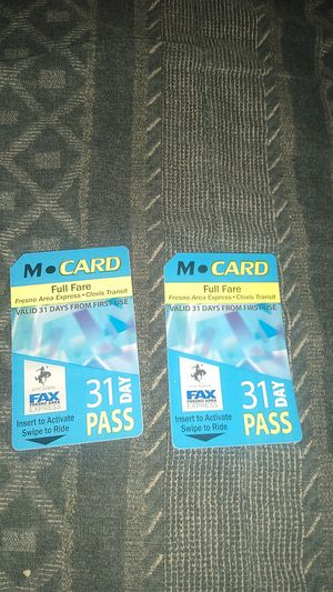 Bus pass $25 each for Sale in Fresno, CA