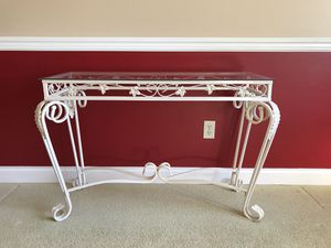 Glass entry/console table for Sale in Renton, WA