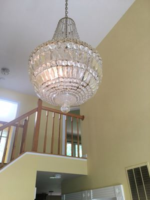 Big size of chandelier with crystals for Sale in Fairfax, VA