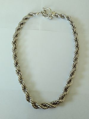 **UNIQUE - HUGE & HEAVY** New Solid 925 Sterling Silver Woman's ROPE CHAIN NECKLACE 145 grams 22 inches long and 10mm wide $450 OR BEST OFFER for Sale in Phoenix, AZ