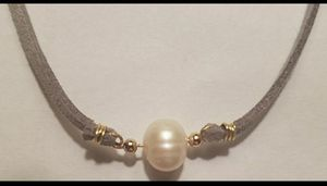 Suede and pearl choker for Sale in Arlington, VA