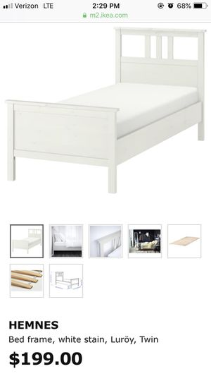 IKEA Hemnes white twin bed with storage drawers for Sale in Kaysville, UT
