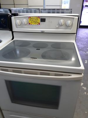 Whirlpool Gold Cream Colored Glass top STOVE-60 day warranty for Sale in Edgewater, FL