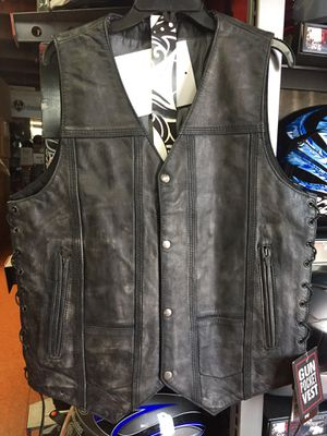 New leather motorcycle vest $80 for Sale in Whittier, CA