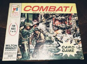 1965 Milton Bradley Combat Card game ABC TV show for Sale for sale  Charlotte, NC