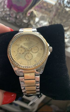 Gold/ Silver Rhinestone Versace Watch for Sale in Downey, CA