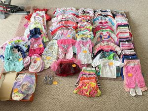 250 pieces BABY GIRL Clothes (Pre-washed) for Sale in Miami Gardens, FL