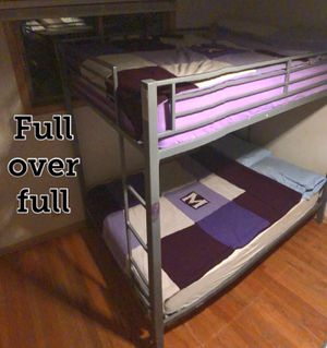 Full over full bunk beds with mattresses for Sale in Arlington Heights, IL
