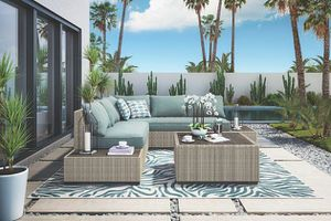 New 4pc outdoor patio furniture sectional set tax included free delivery for Sale in Hayward, CA