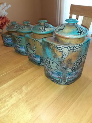 KEN JENSEN CANISTERS-SET OF 4 for Sale in Pinellas Park, FL