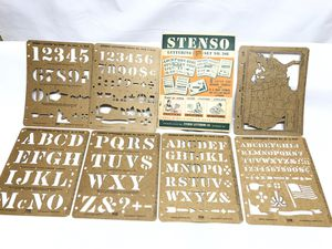 Vintage STENSO Lettering Co. SET No 208 for Sale in Chicago, IL