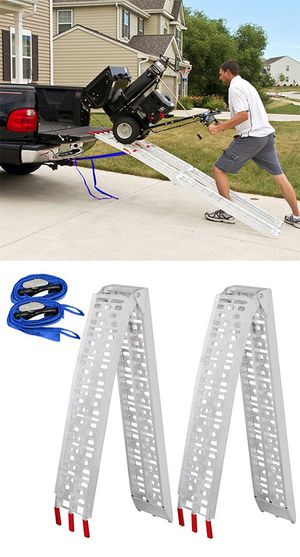 $115 NEW Pair 7.5ft Aluminum Motorcycle Folding Loading Ramp Street Dirt Bike 1500Lbs Rated for Sale in Whittier, CA