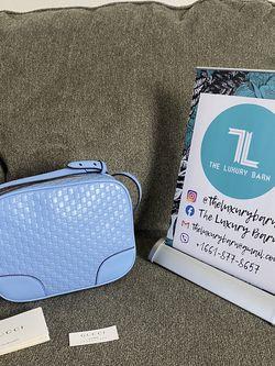 GUCCI Microguccissima Mini Bree Messenger Bag Blue for Sale in Valencia,  CA