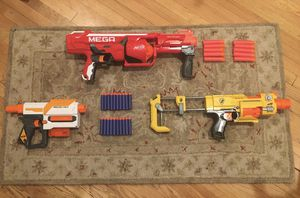 Nerf gun lot with Mega Rhotofury, Recon, Barricade, and more for Sale in Culver City, CA