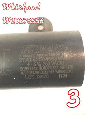 Whirlpool Washer Capacitor W10278556 for Sale in Los Angeles, CA