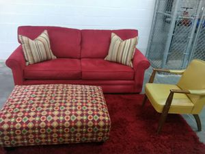 Like new Haverty's sofa and ottoman for Sale in Nashville, TN