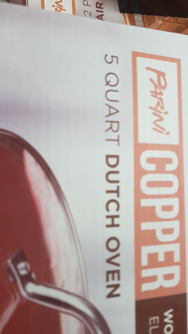 Parini copper 5 quart Dutch Oven Pot
