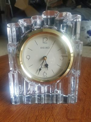 Antique Seiko Solid Crystal Clock for Sale in Fairfax, VA
