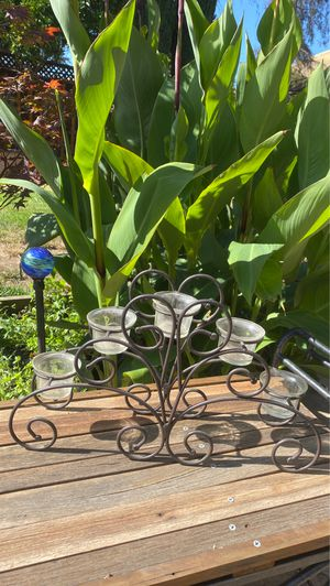 Wrought iron and candleholder for Sale in Fremont, CA