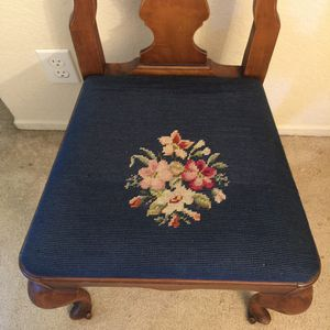 Antique Embroidered Chair for Sale in Mountain View, CA