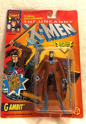 1992 Uncanny X-Men Gambit Power Kick Action Figure Toy Biz Marvel for Sale in Menifee, CA