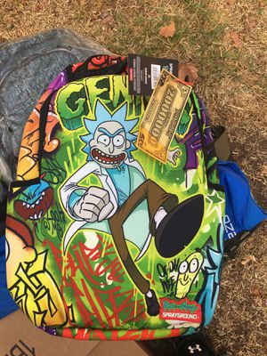 Sprayground Rick and Morty Backpack (BRAND NEW!!) for Sale in Los Angeles, CA