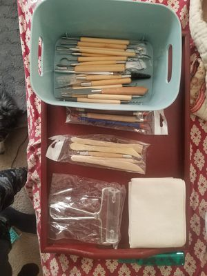 Potters tools, clay & ceramic for Sale in Raleigh, NC