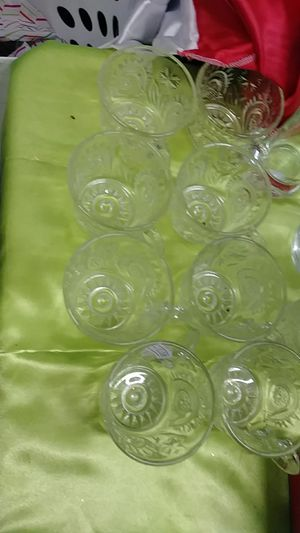 Glass antique teacups set of 8 for Sale in Von Ormy, TX