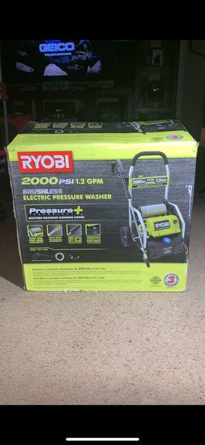 Ryobi 2000 PSI 1.2 GPM Brushless electric pressure washer for Sale in Pomona, CA